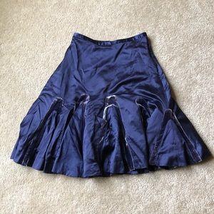 Anthropologie Odille Satin Velvet Skirt, Size 4